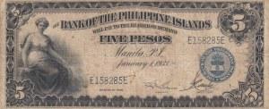 Philippines, 5 Pesos, 1933, FINE, p22