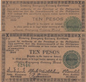 Philippines,  1944, XF, pS676, Total 2 banknotes