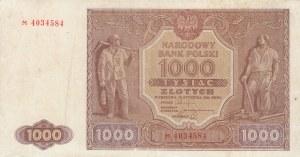 Poland, 1.000 Zlotych, 1946, VF, p122