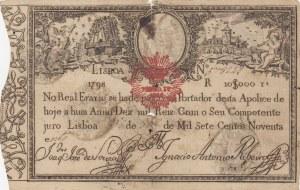 Portugal , 10.000 Reis, 1798, POOR, p5