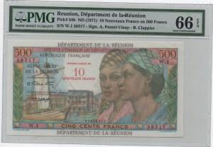 Reunion, 50 Nouveaux Francs or 500 Francs, 1971, UNC, p54b