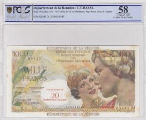 Reunion, 1.000 Francs, 1971, UNC, p55b