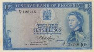 Rhodesia, 10 Shillings, 1964, XF, p24