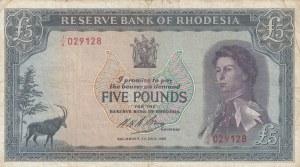 Rhodesia, 5 Pounds, 1966, VF, p29a
