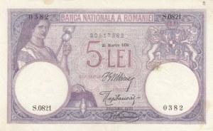 Romanya, 5 Lei, 1920, XF, p19a