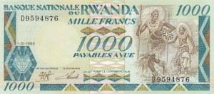Rwanda, 1.000 Francs, 1988, UNC, p21
