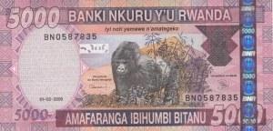 Rwanda, 5000 Francs  , 2009, UNC, p33