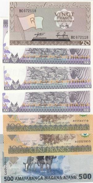 Rwanda,  Total 7 banknotes