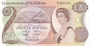Saint Helena, 20 Pounds, 1986, UNC, p10a