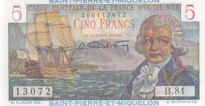Saint Pierre and Miquelon, 5 Francs, 1950/1960, UNC, p22