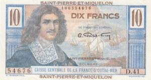 Saint Pierre and Miquelon, 10 Francs, 1950/1960, UNC, p23