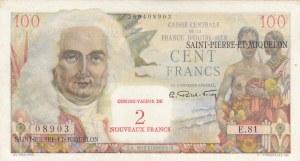 Saint Pierre and Miquelon, 2 New Francs, 1963, UNC, p32
