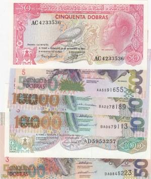 Saint Thomas And Prince,  UNC,  Total 6 banknotes