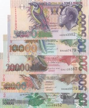 Saint Thomas And Prince,  UNC,  Total 5 banknotes