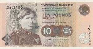 Scotland, 10 Pounds, 1998, VF, p226b