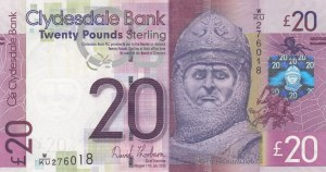 Scotland, 20 Pounds, 2013, UNC, p229K