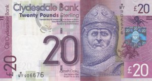 Scotland, 20 Pounds, 2015, UNC, p229Kd