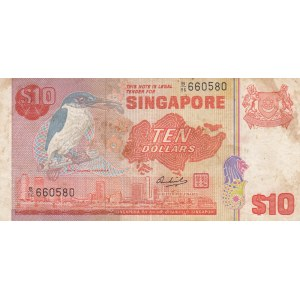 Singapore, 10 Dollars, 1976, VF, p11a