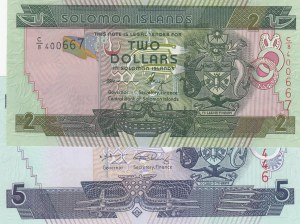 Solomon Islands,  Total 2 banknotes