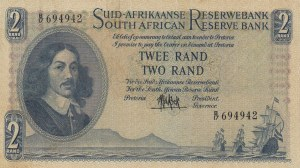 South Africa, 2 Rand, 1961, VF, p105a