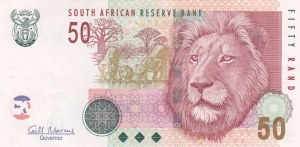 South Africa, 50 Rand, 2005/2010, XF, p130b