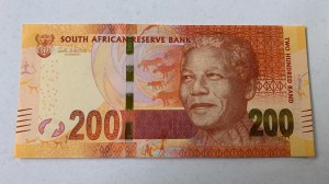 South Africa, 200 Rands, 2018, AUNC, p147