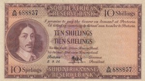 South Africa, 10 Shillings, 1954, XF, p90c