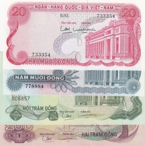 South Vietnam,  Different 4 banknotes