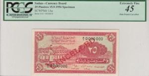 Sudan, 25 Piastres, 1956, XF, p1As, SPECIMEN