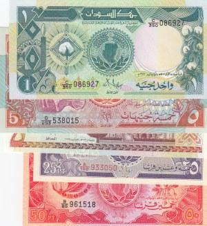 Sudan,  Total 5 banknotes