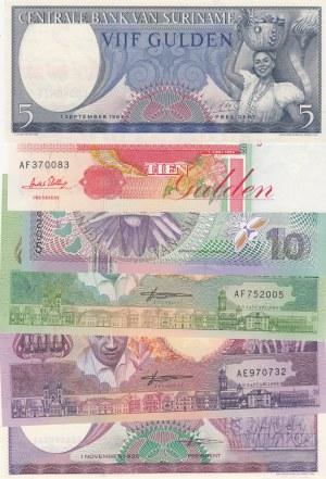 Suriname,  Total 6 banknotes