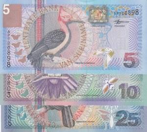 Suriname,  Total 3 banknotes