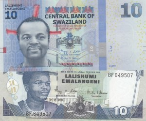 Swaziland,  Total 2 banknotes