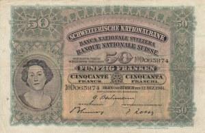 Switzerland, 50 Franken, 1941, VF, p34l