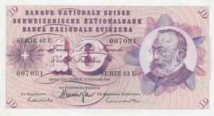 Switzerland, 10 Franken, 1969, UNC, p45o