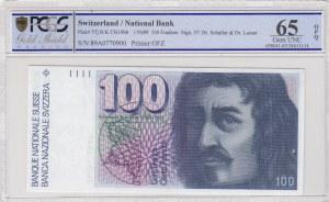 Switzerland, 100 Franken, 1989, UNC, p57j