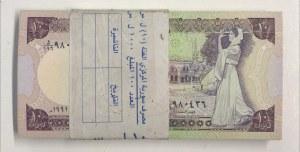 Syria, 10 Pounds, 1991, UNC, p101e, Stack of money