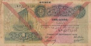 Syria, 1 Livre, 1939, FINE, p40