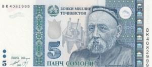 Tajikistan, 5 Somoni, 1999, UNC, p15