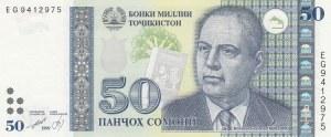 Tajikistan, 50 Somoni, 1999, UNC, p18a