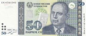 Tajikistan, 50 Somoni, 2017, UNC, p26b