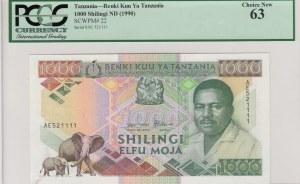 Tanzania, 1.000 Shilingi, 1990, UNC, p22