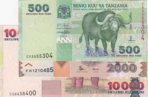 Tanzania,  Total 3 banknotes