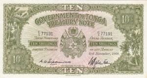 Tonga, 10 Shillings, 1966, UNC, p10e