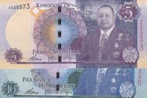 Tonga,  Different 2 banknotes