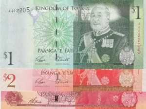 Tonga,  Total 3 banknotes