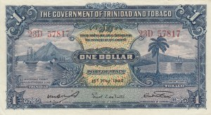 Trinidad and Tobago, 1 Dollar, 1942, XF, p5c