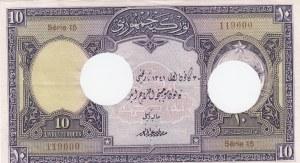 Turkey, 10 Livre, 1927, AUNC, p121, CANCELLED HOLLES