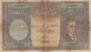 Turkey, 50 Lira, 1927, POOR, p122, 1/1 Emission