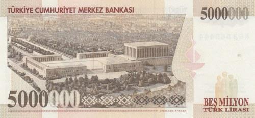 Turkey, 5.000.000 Lira, 1997, UNC, p210a,